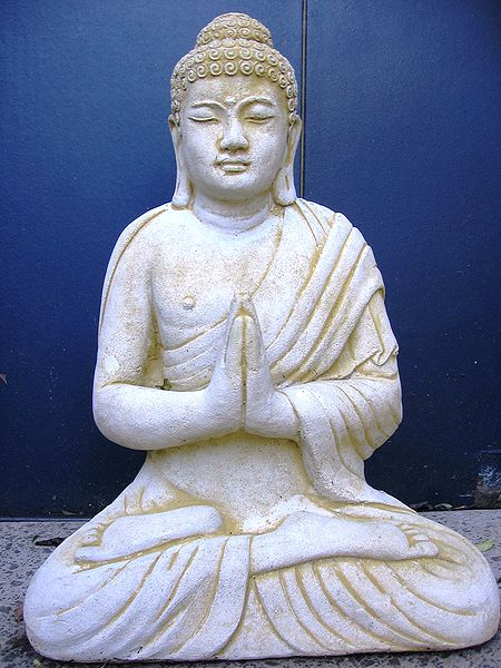 A meditating Buddha statue